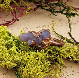 Copper Grape Agate Gemstone Ring