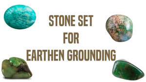 Earthen Grounding Gemstone Pocket Stone Set