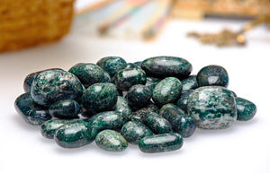 Emerald in Fuchsite Tumbled Polished Gemstone