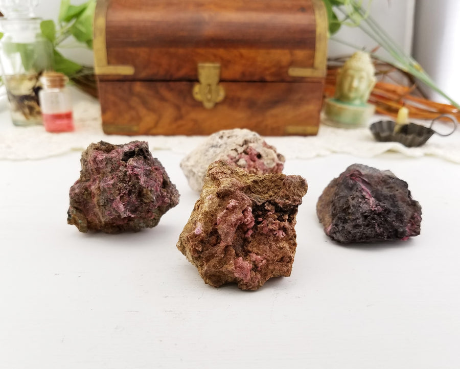 Erythrite Natural Gemstone Cluster Stones