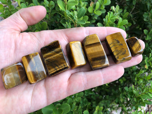 Tiger Eye Tumbled Polished Gemstone - A-Grade