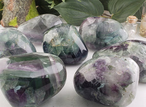 Rainbow Fluorite Polished Power Stone