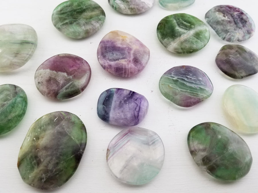 Fluorite Polished Meditation Palm Stone