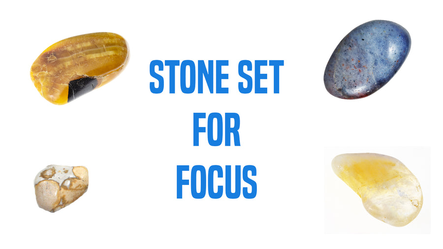 Focus Energy Gemstone Pocket Stone Set