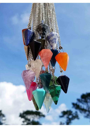 Pendulum Necklace (Assorted Gemstones)
