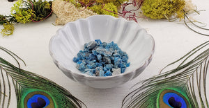 Blue Apatite Gemstone Natural - 1oz Bag
