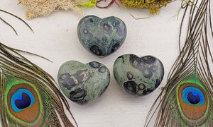 Kambaba Jasper Gemstone Polished Heart Love Stone