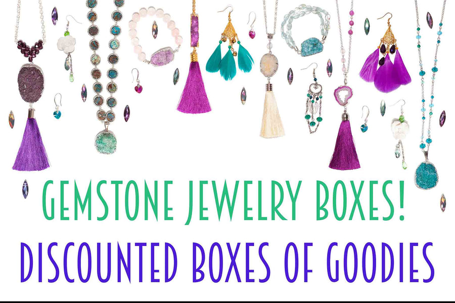 Gemstone Jewelry Box - Discounted Box of Goodies!