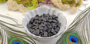 Shungite Rough Gemstone Chips - 1 Ounce Bag