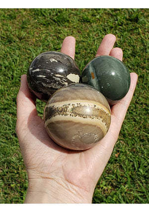 Fancy Jasper Gemstone Sphere 41mm-65mm
