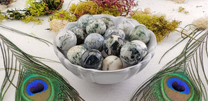 Tree Agate 20mm Gemstone Orb Sphere
