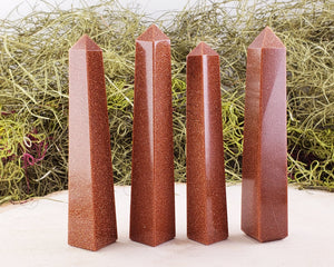 Goldstone Gemstone Obelisk Tower Point Obelisks & Towers