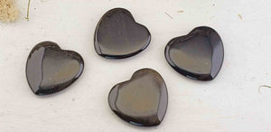Gold Sheen Obsidian Gemstone Polished 45mm Flat Heart