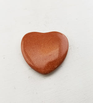 Goldstone Polished Gemstone Heart Carving Carvings