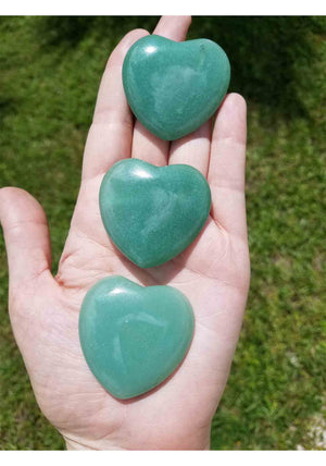 Green Aventurine Polished Gemstone Heart Carving Carvings