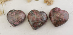 Ruby Kyanite Gemstone Heart Polished
