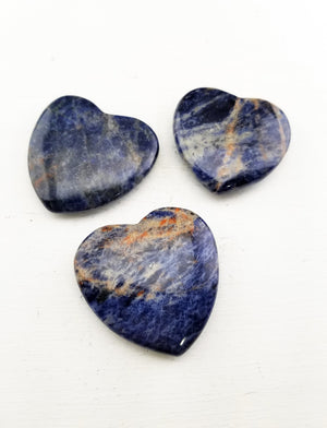 Sodalite Polished Gemstone Heart Carving Carvings
