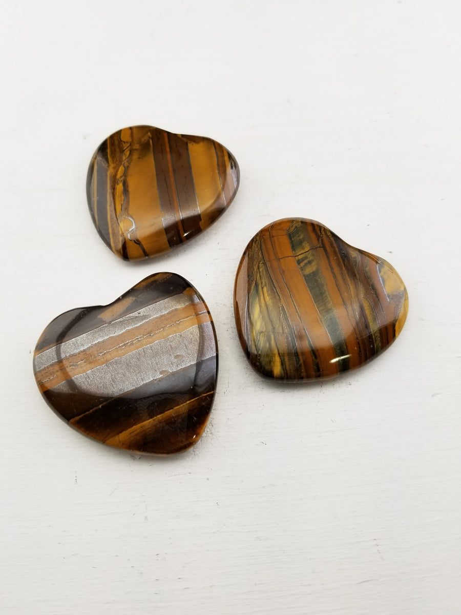 Tiger Iron Polished Gemstone Heart Carving Carvings