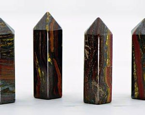 Tiger Iron Gemstone Point Tower - Large Stone Obelisks & Towers