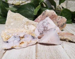 Natural Pink Opal Raw Gemstone Tumbled Gemstones