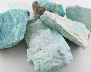 Amazonite Raw Rough Natural Gemstone Tumbled Gemstones
