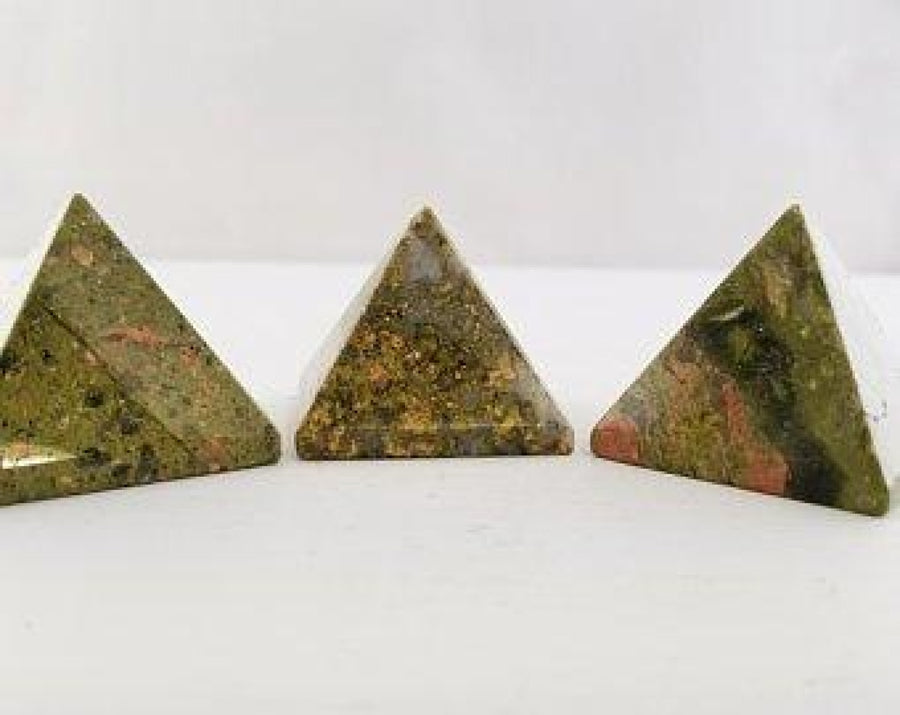 Unakite Pyramid Polished Gemstone Pyramids