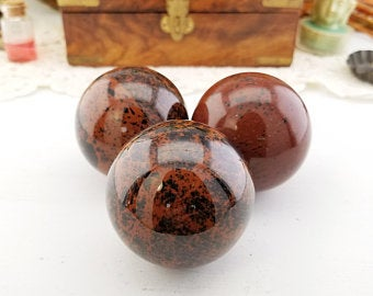 Mahogany Obsidian 50mm Gemstone Orb Sphere