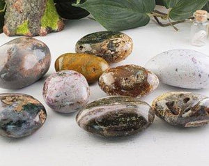 Ocean Jasper Palm Stone - Small Gemstone Carvings