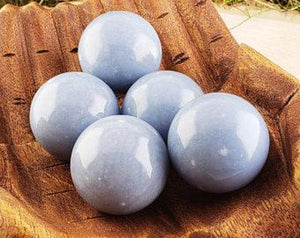 Angelite 40Mm Gemstone Orb Sphere Marble Spheres & Orbs