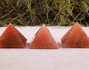 Red Peach Aventurine Mini Gemstone Pyramid
