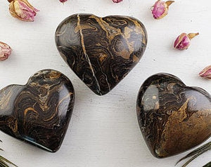 Stromatolite Gemstone Heart Polished
