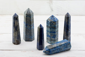 Lapis Lazuli Gemstone Obelisk Tower Point