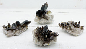 Smoky Quartz Gemstone Cluster Point