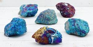 Peacock Ore Chalcopyrite Gemstone Cluster - Stone Of A New Pattern In Life Natural Stones