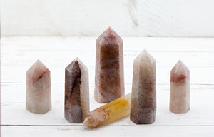 Included Quartz Gemstone Obelisk Tower point
