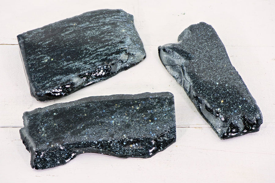 Hematite Natural Gemstone Slab Slice