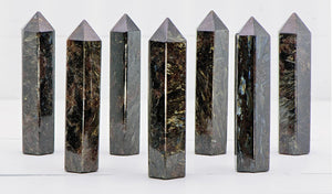 Arfvedsonite Gemstone Tower Obelisk Point