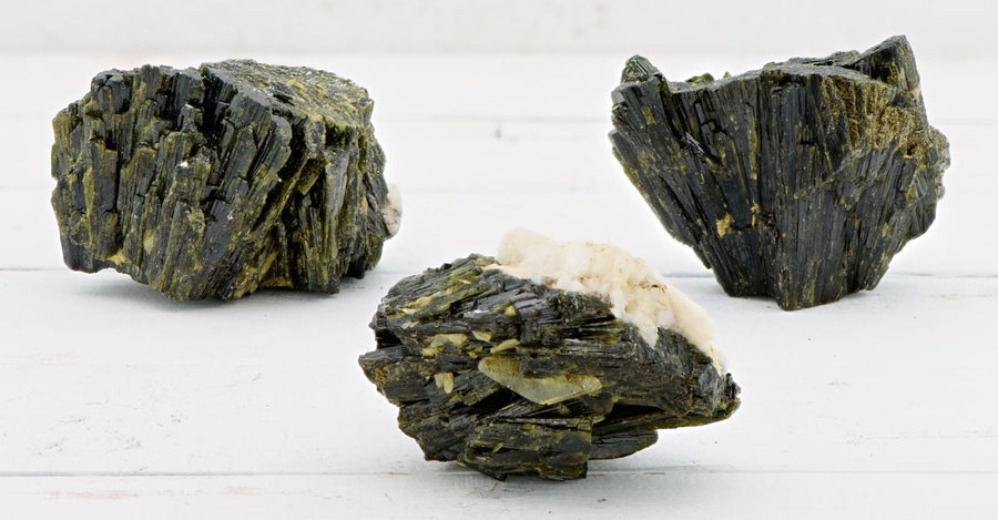 Epidote Natural Raw Rough Gemstone Cluster