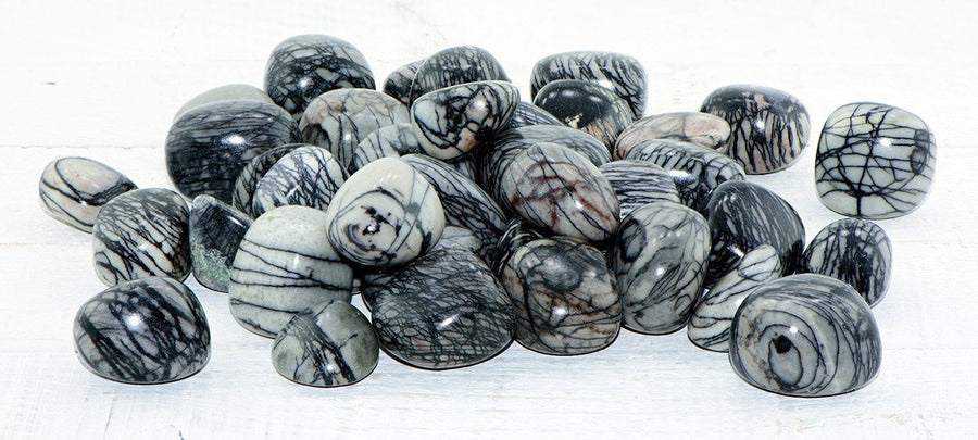 Spider Web Jasper Tumbled Polished Gemstone