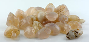 Pink Chalcedony Tumbled Polished Gemstone