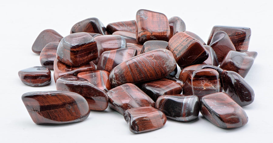 Red Tiger Eye Tumbled Polished Gemstone