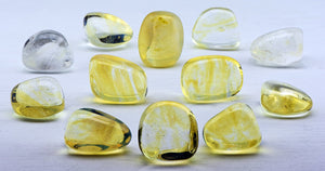 Yellow Obsidian Tumbled Polished Gemstone