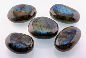 Labradorite Gemstone Palm Stone Polished