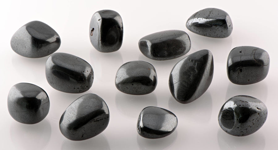 Hematite Silver Polished Tumbled Gemstone