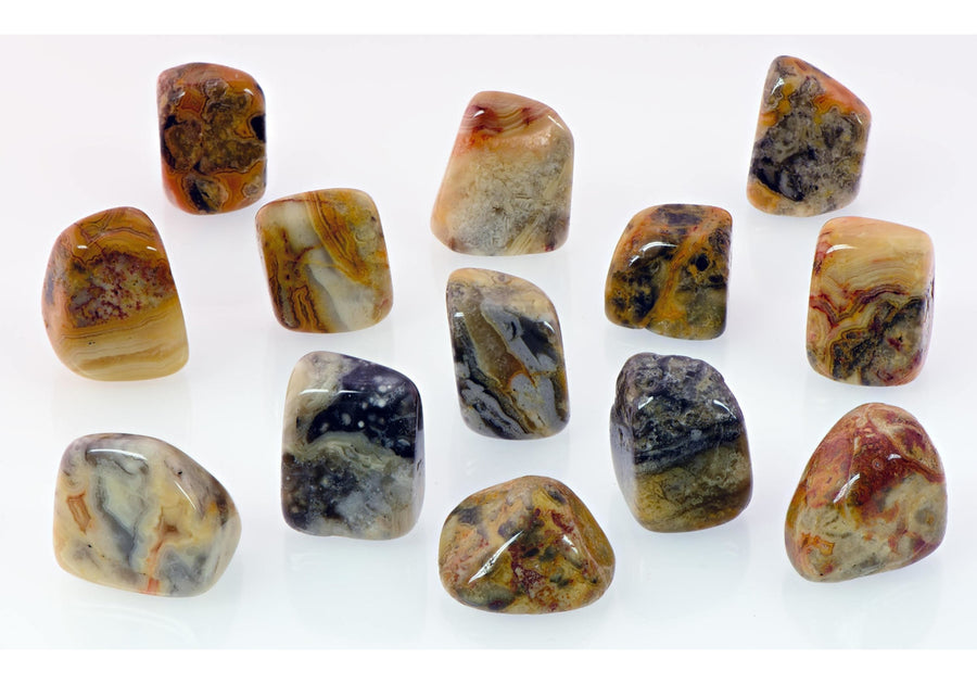 Crazy Lace Agate Tumbled Polished Gemstone