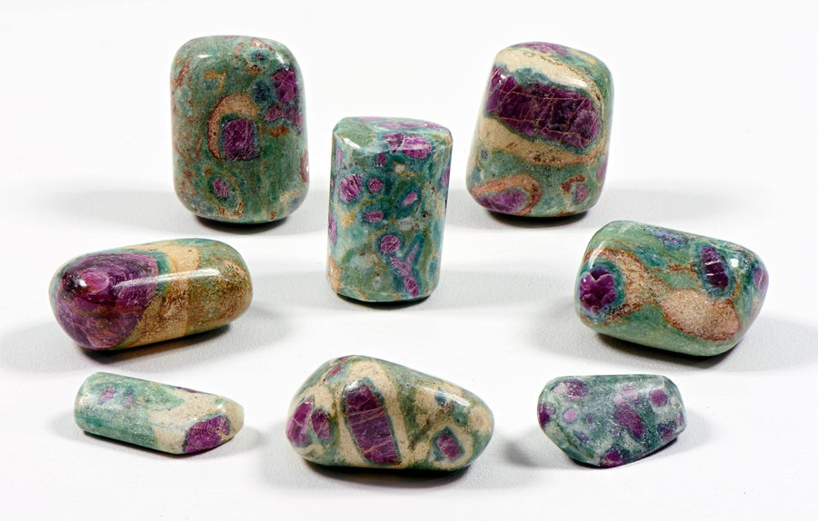 Ruby Fuchsite Tumbled Polished Gemstone