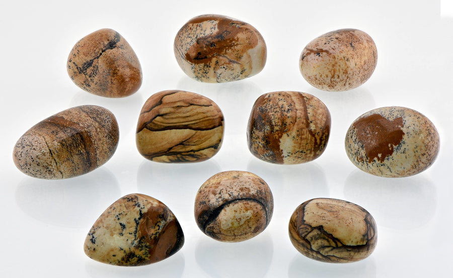 Picture Jasper Tumbled Polished Gemstone