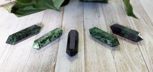 Ruby Fuchsite Double Terminated Amethyst Gemstone Point
