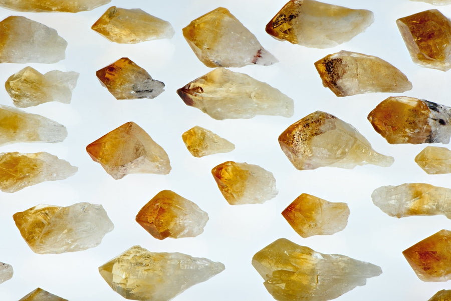 Citrine Natural Raw Gemstone Point Wand