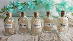 Quartz Clear Gemstone Chips Pebbles Bottle